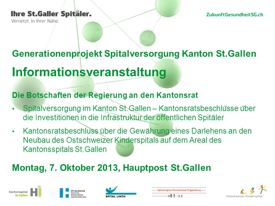 Montag, 7. Oktober 2013, Hauptpost St.Gallen