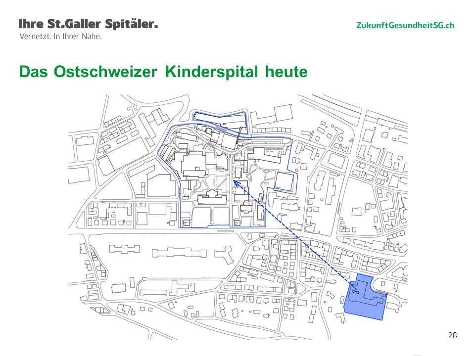 Das Ostschweizer Kinderspital heute