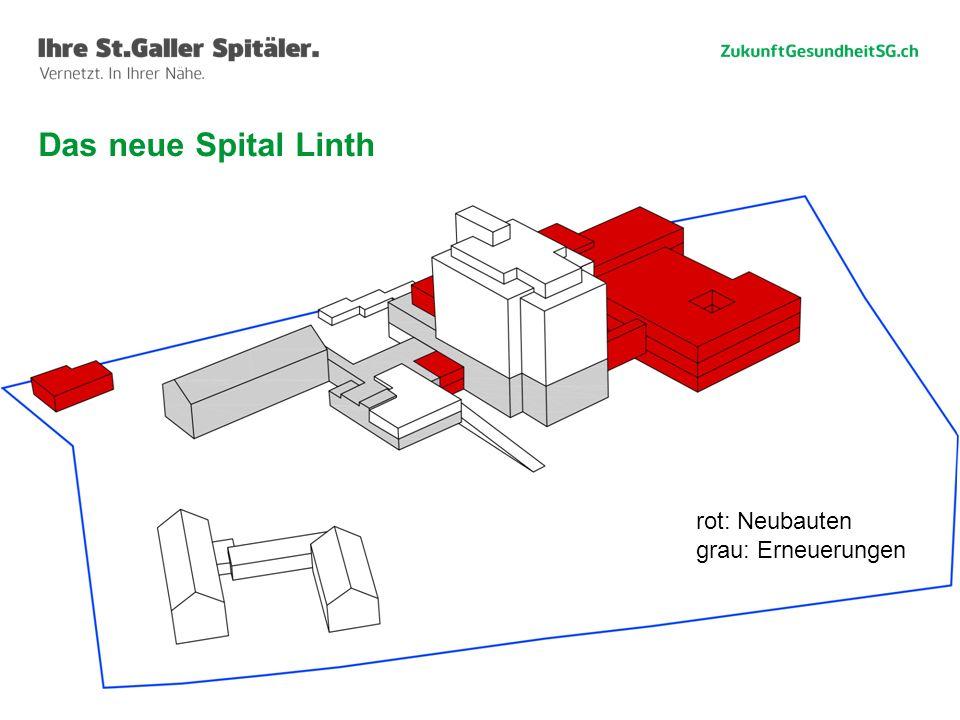 Das neue Spital Linth rot: Neubauten grau: Erneuerungen Willi Haag