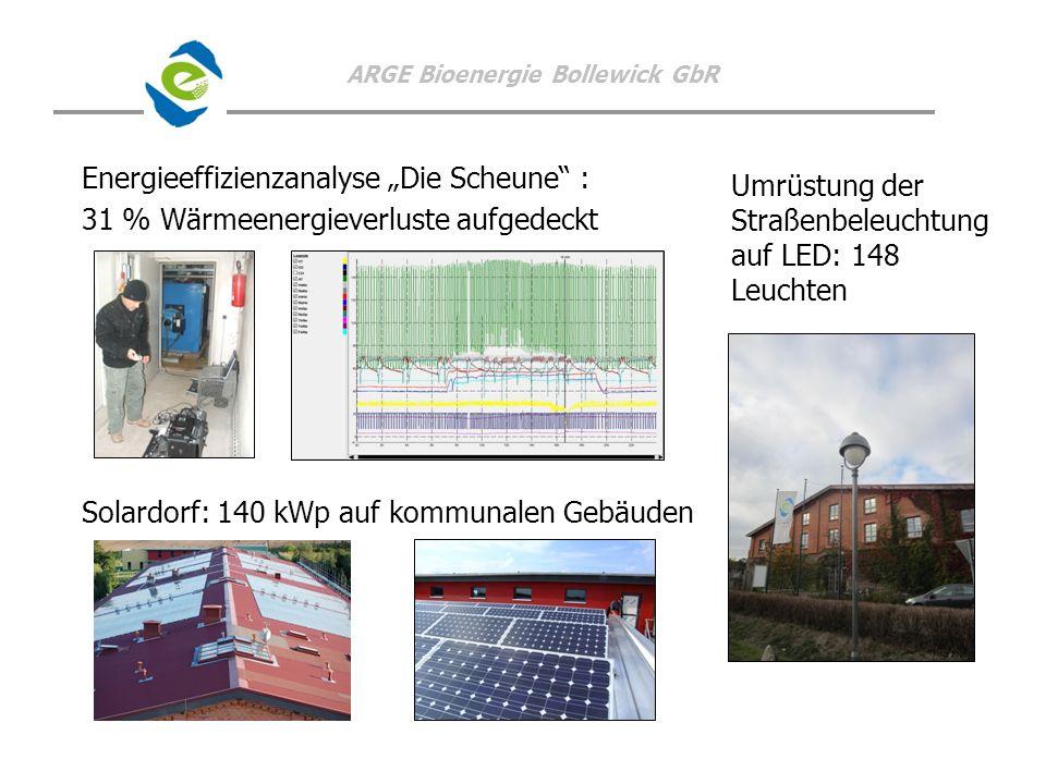 """Energieeffizienzanalyse """"Die Scheune : 31 % Wärmeenergieverluste aufgedeckt Solardorf: 140 kWp auf kommunalen Gebäuden"""