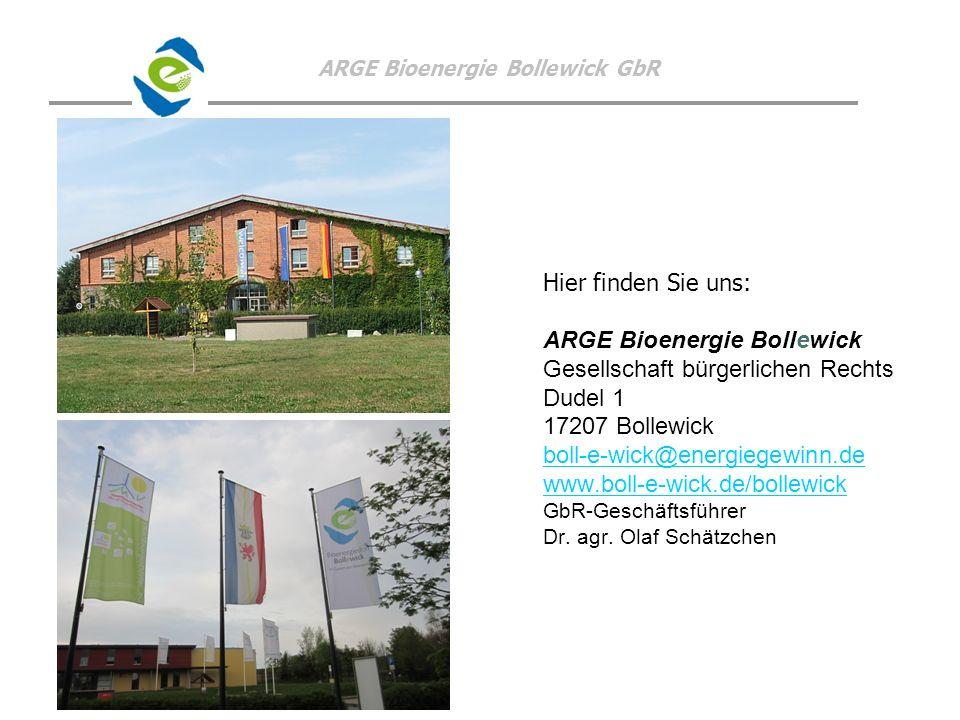 ARGE Bioenergie Bollewick Gesellschaft bürgerlichen Rechts Dudel 1