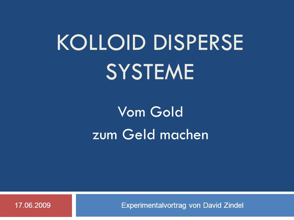 kolloid disperse Systeme