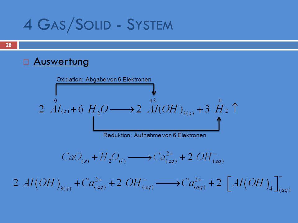 Reduktion: Aufnahme von 6 Elektronen
