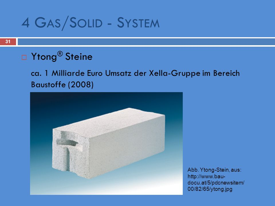 4 Gas/Solid - System Ytong® Steine