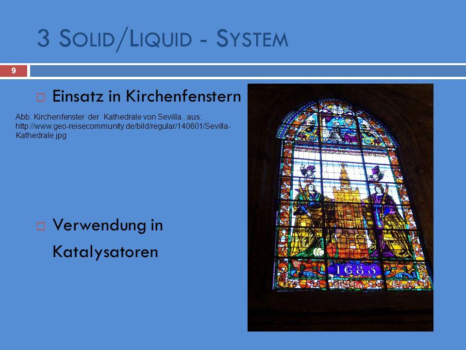 3 Solid/Liquid - System Einsatz in Kirchenfenstern Verwendung in
