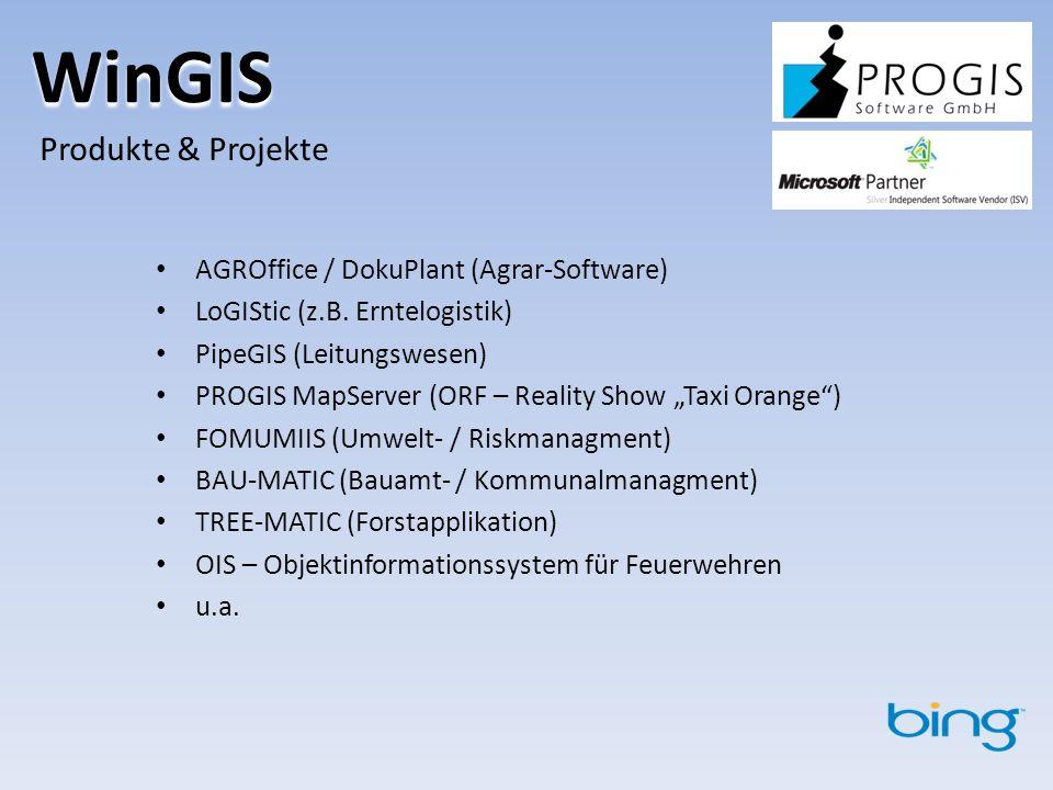 WinGIS Produkte & Projekte AGROffice / DokuPlant (Agrar-Software)