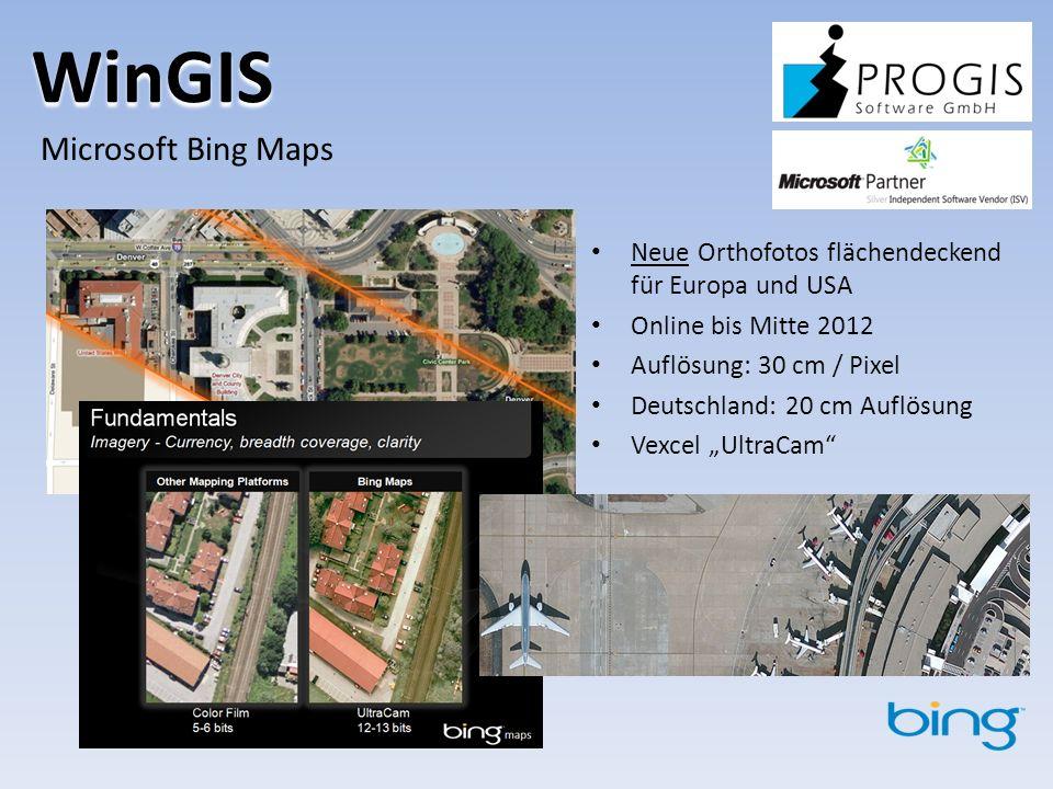 WinGIS Microsoft Bing Maps
