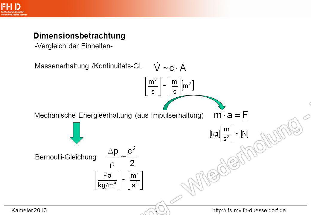 Dimensionsbetrachtung