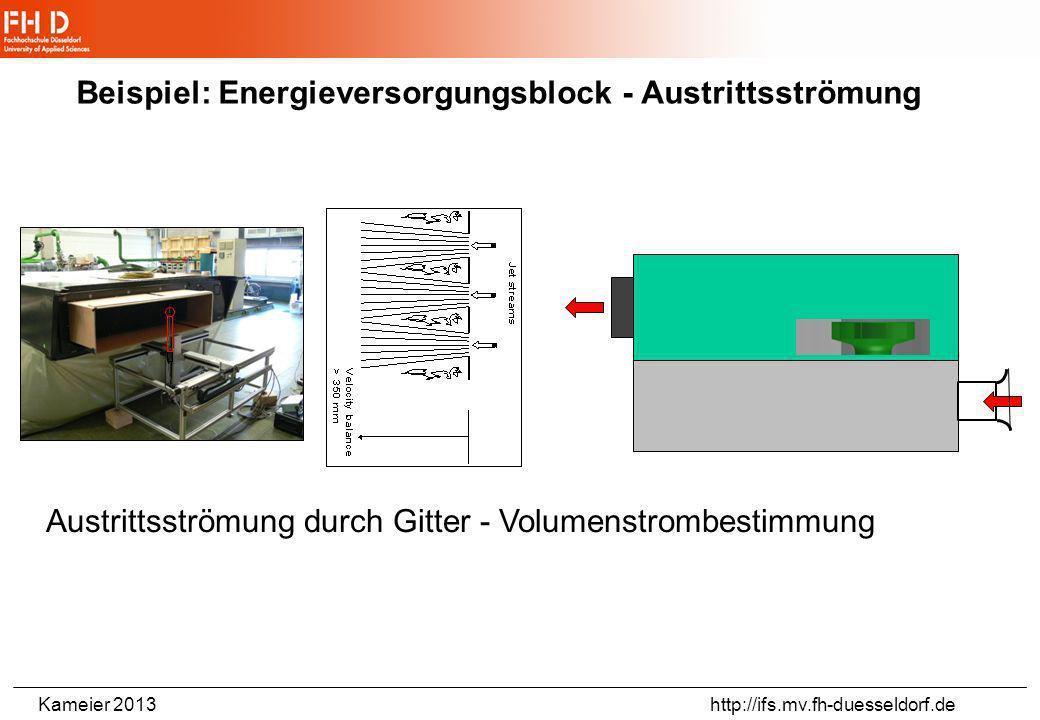 Beispiel: Energieversorgungsblock - Austrittsströmung