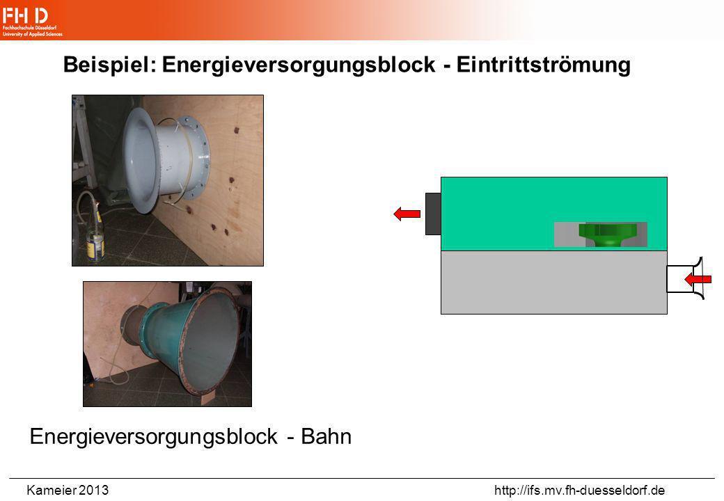 Beispiel: Energieversorgungsblock - Eintrittströmung