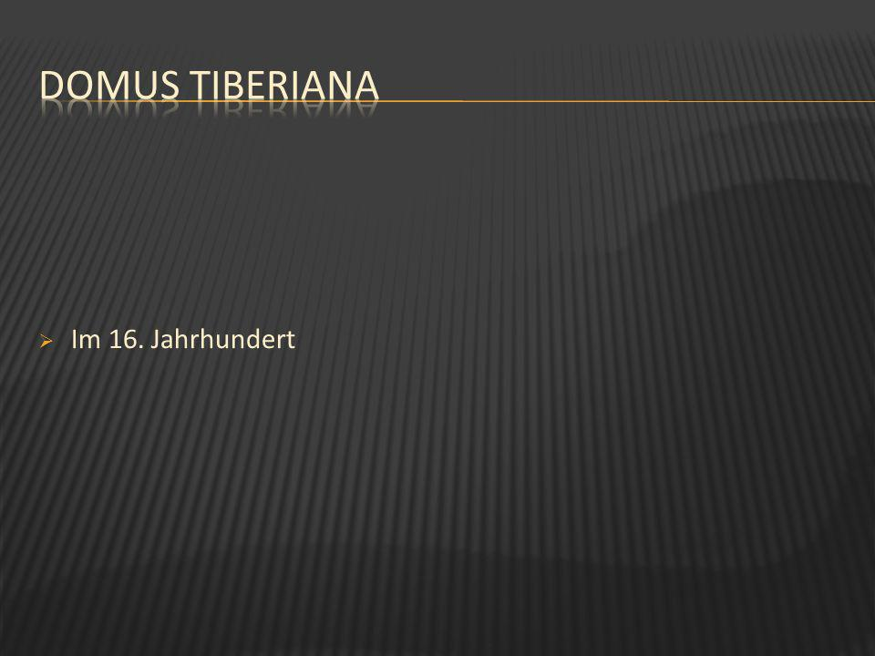 Domus Tiberiana Im 16. Jahrhundert