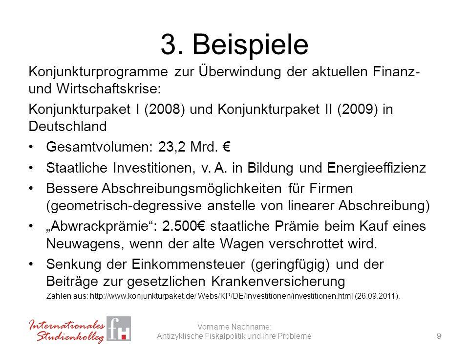 Antizyklische Fiskalpolitik und ihre Probleme