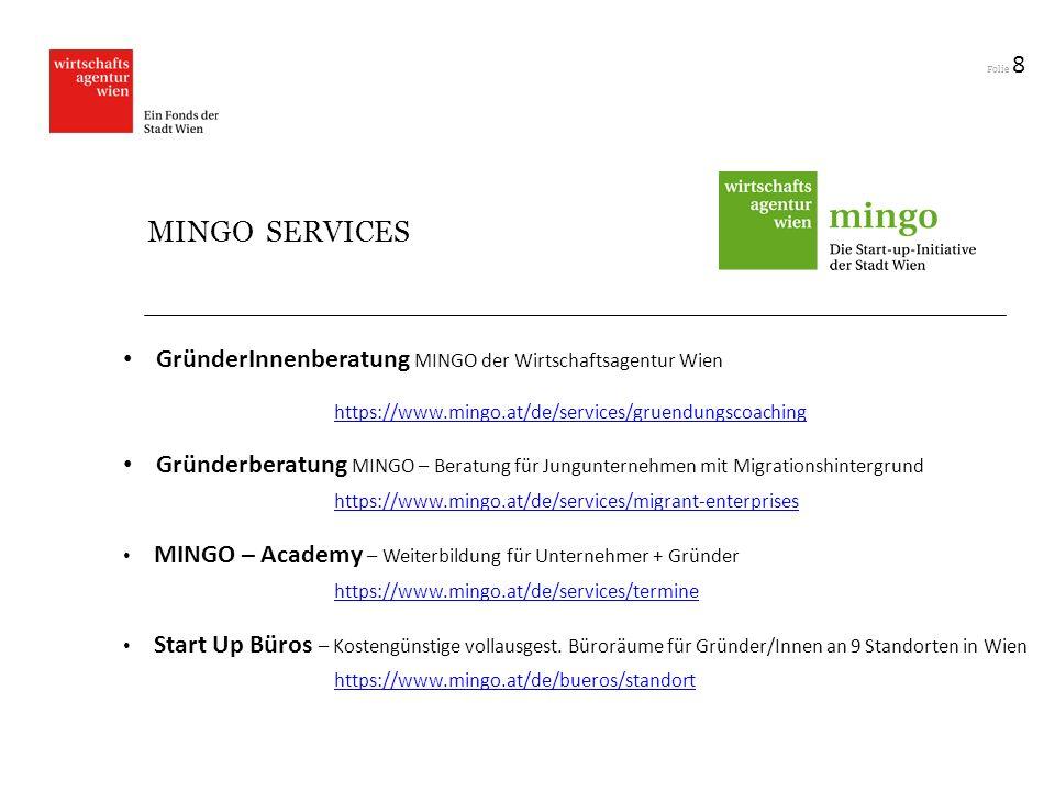GründerInnenberatung MINGO der Wirtschaftsagentur Wien