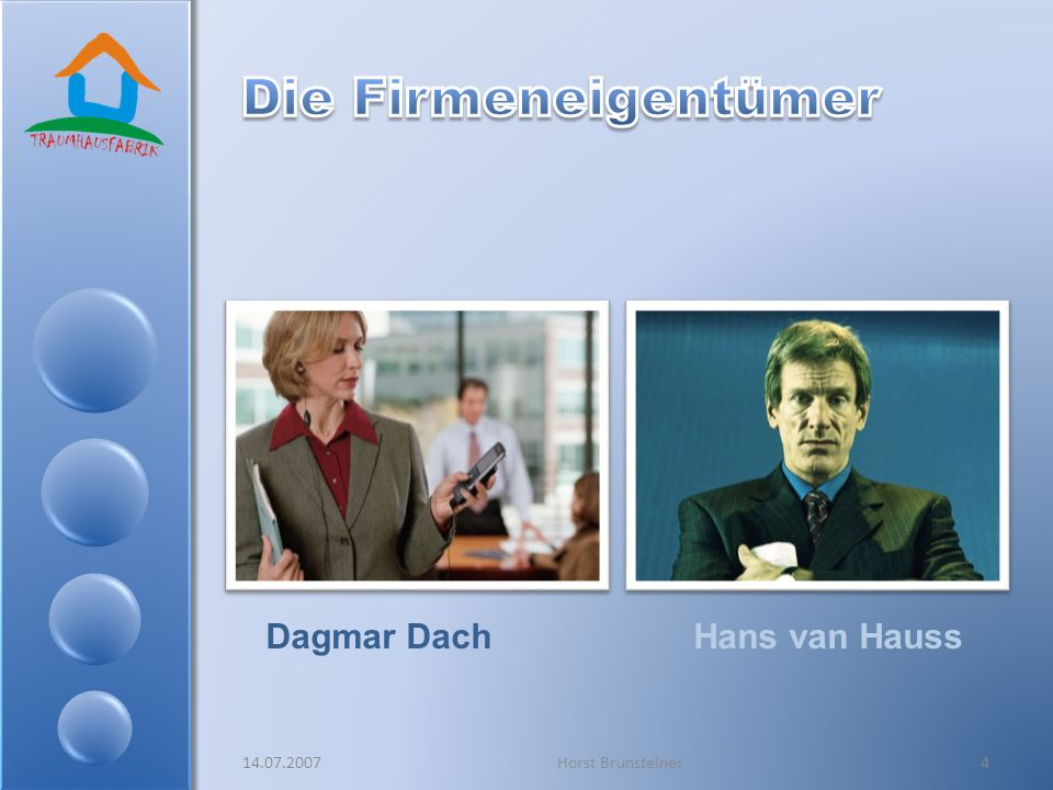 Die Firmeneigentümer Dagmar Dach Hans van Hauss