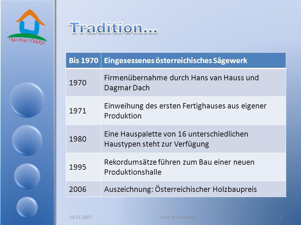 Tradition… Bis 1970 Eingesessenes österreichisches Sägewerk 1970
