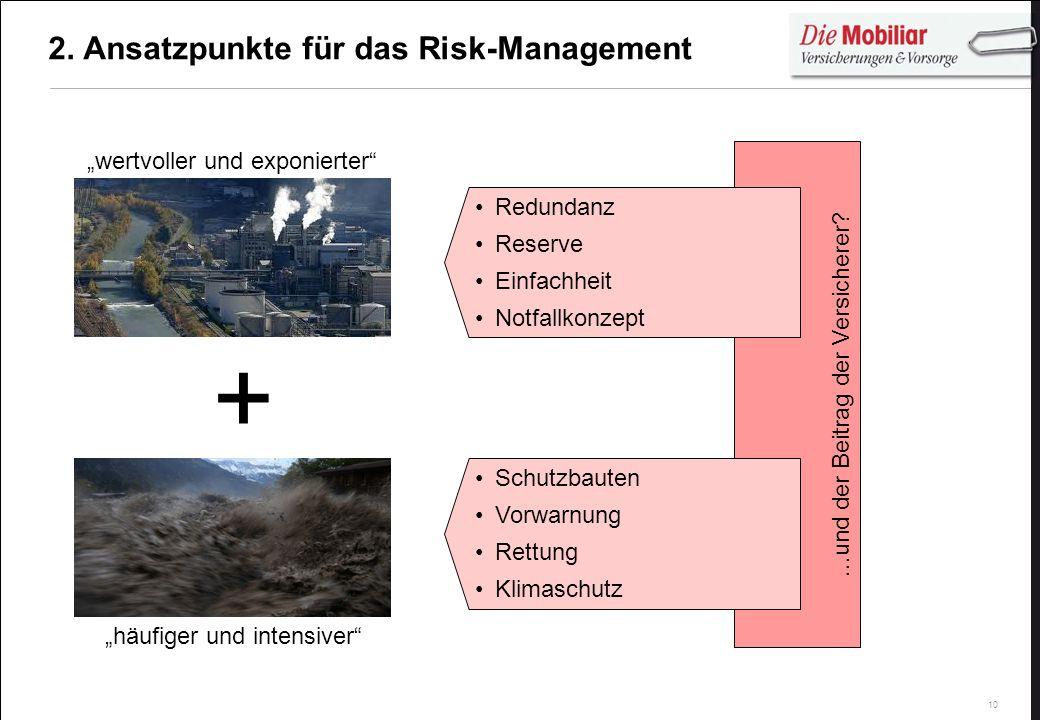 2. Ansatzpunkte für das Risk-Management