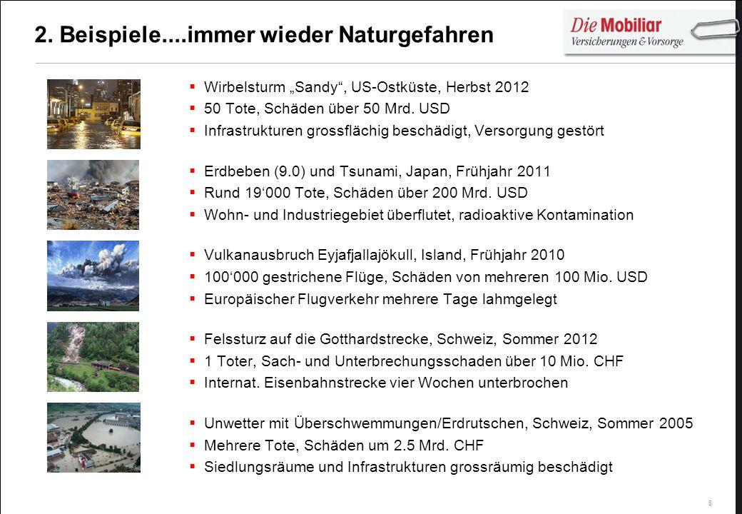 2. Beispiele....immer wieder Naturgefahren