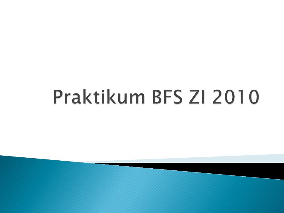 Praktikum BFS ZI 2010