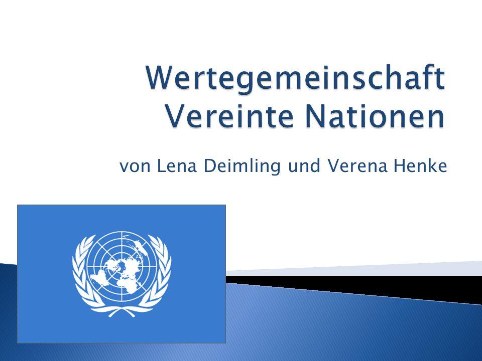 Wertegemeinschaft Vereinte Nationen