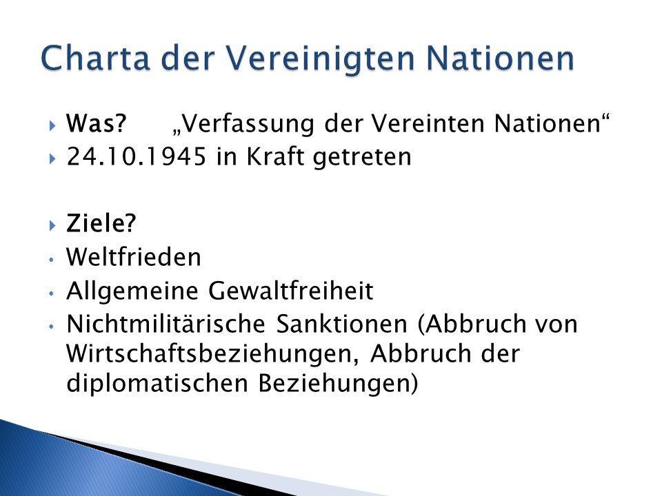 Charta der Vereinigten Nationen
