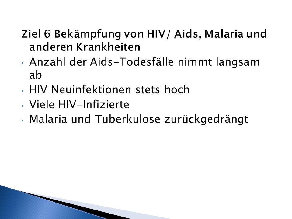 Ziel 6 Bekämpfung von HIV/ Aids, Malaria und anderen Krankheiten