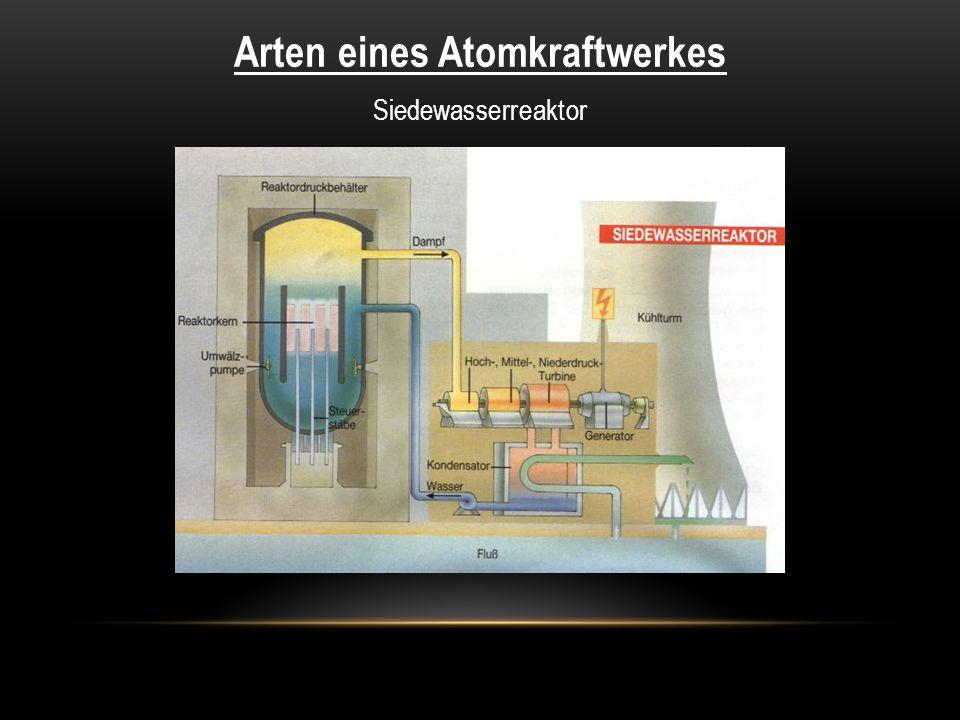Arten eines Atomkraftwerkes