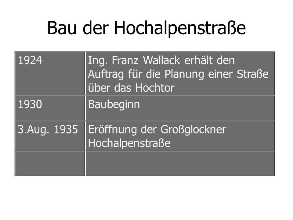 Bau der Hochalpenstraße