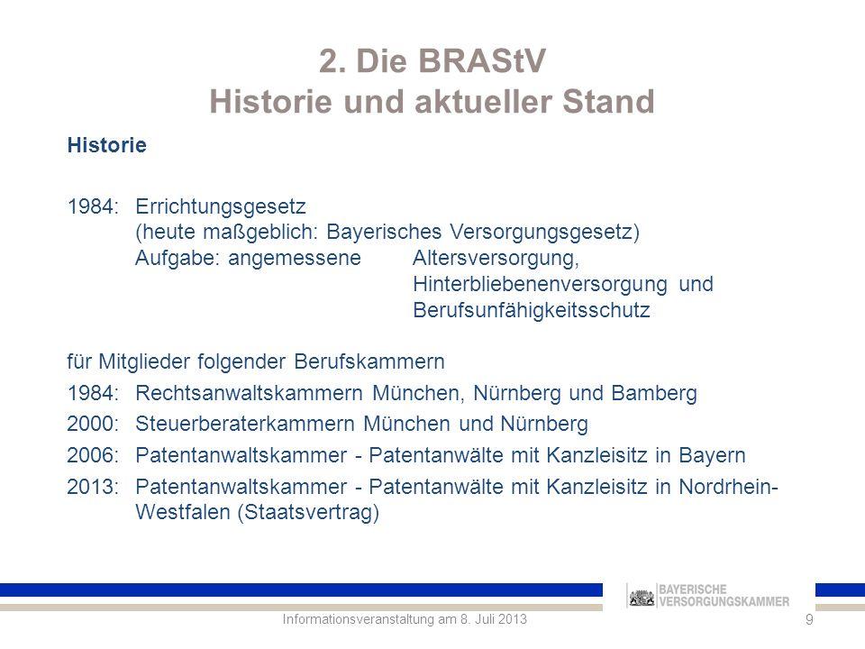 2. Die BRAStV Historie und aktueller Stand