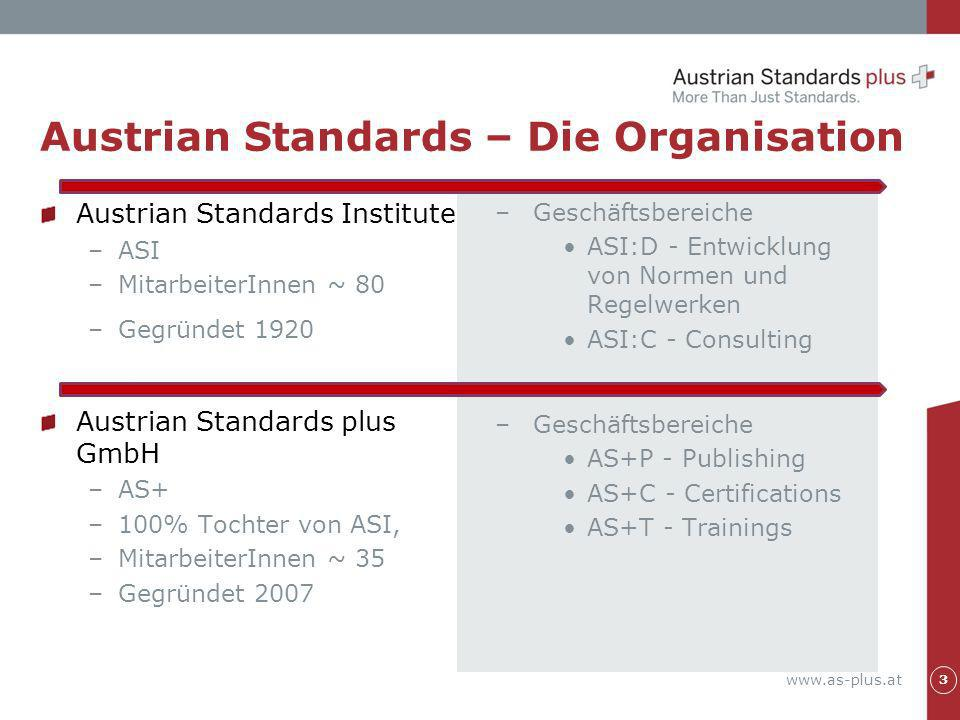 Austrian Standards – Die Organisation