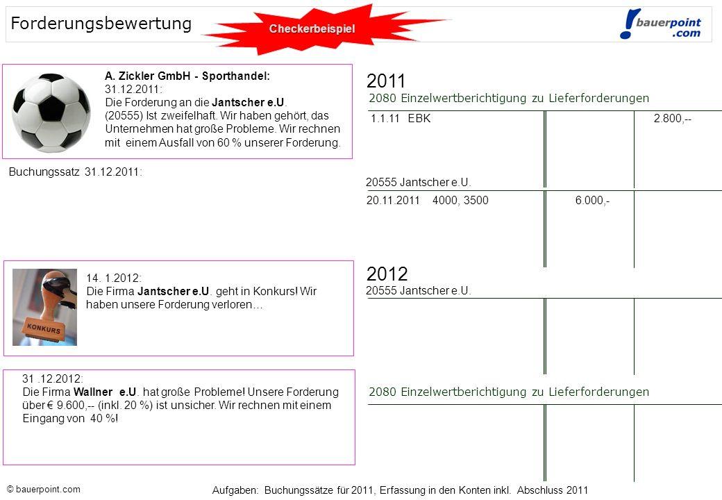 2011 2012 Forderungsbewertung Checkerbeispiel