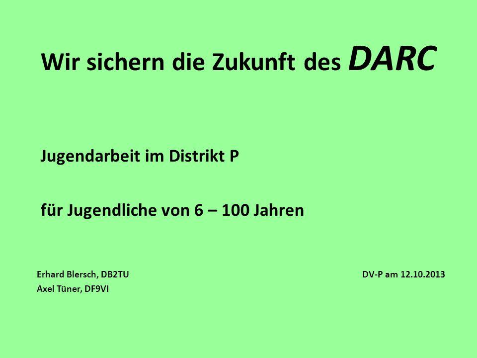 Erhard Blersch, DB2TU DV-P am 12.10.2013 Axel Tüner, DF9VI