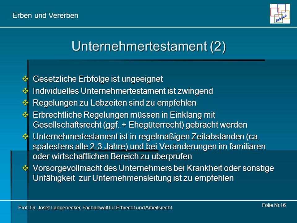 Unternehmertestament (2)