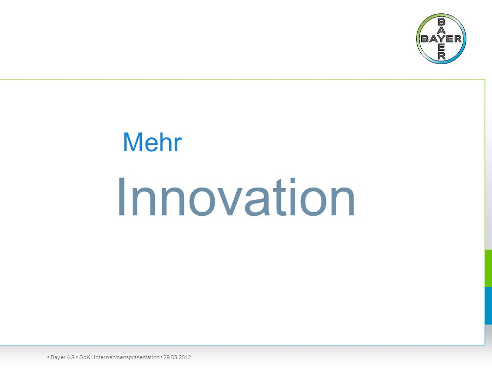 Innovation Mehr So geht Bayer in die Zukunft