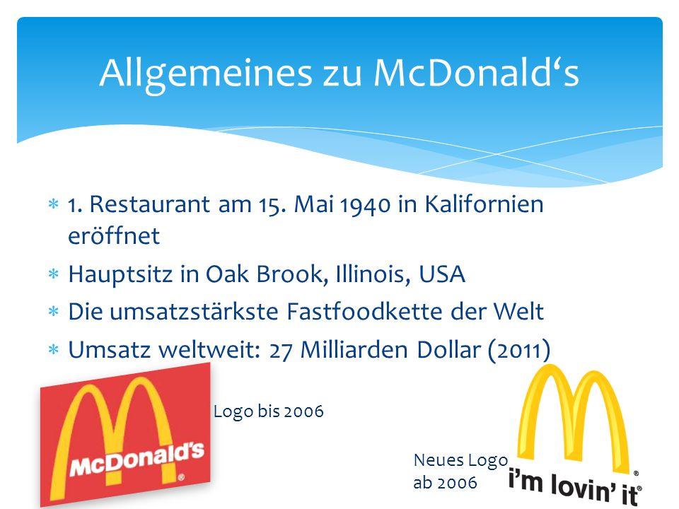 Allgemeines zu McDonald's