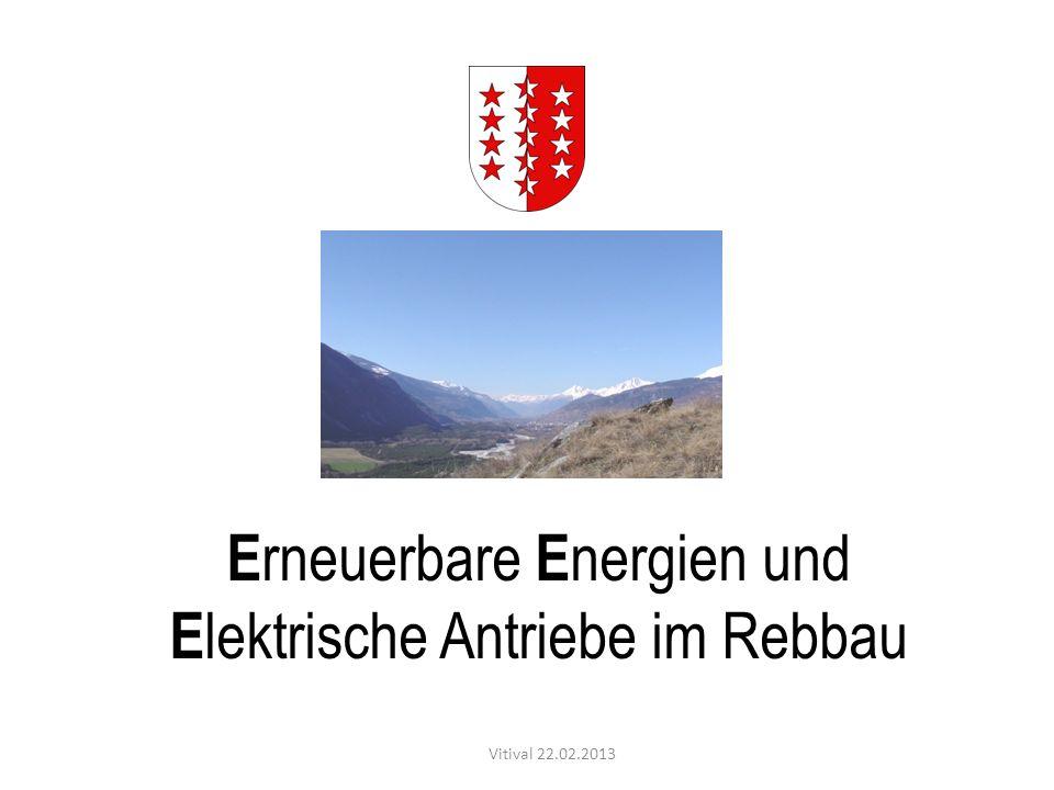 Erneuerbare Energien und Elektrische Antriebe im Rebbau