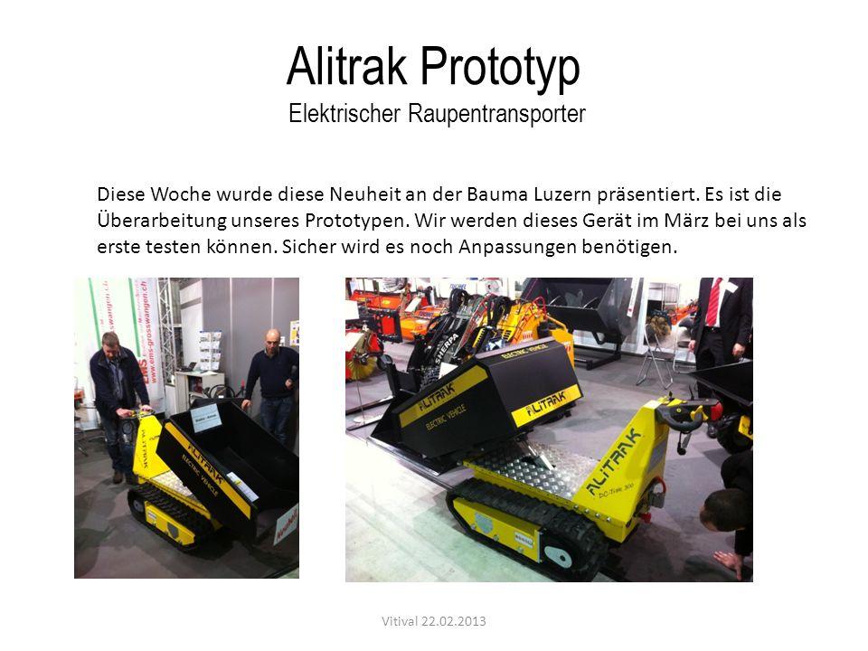 Alitrak Prototyp Elektrischer Raupentransporter