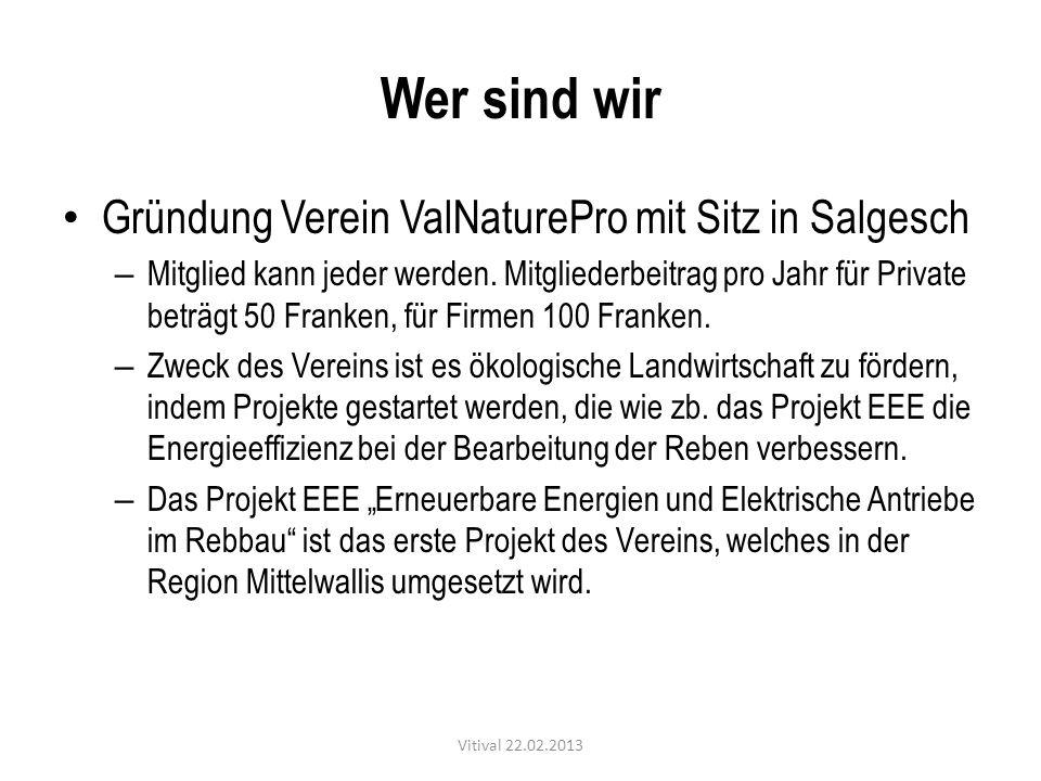 Wer sind wir Gründung Verein ValNaturePro mit Sitz in Salgesch
