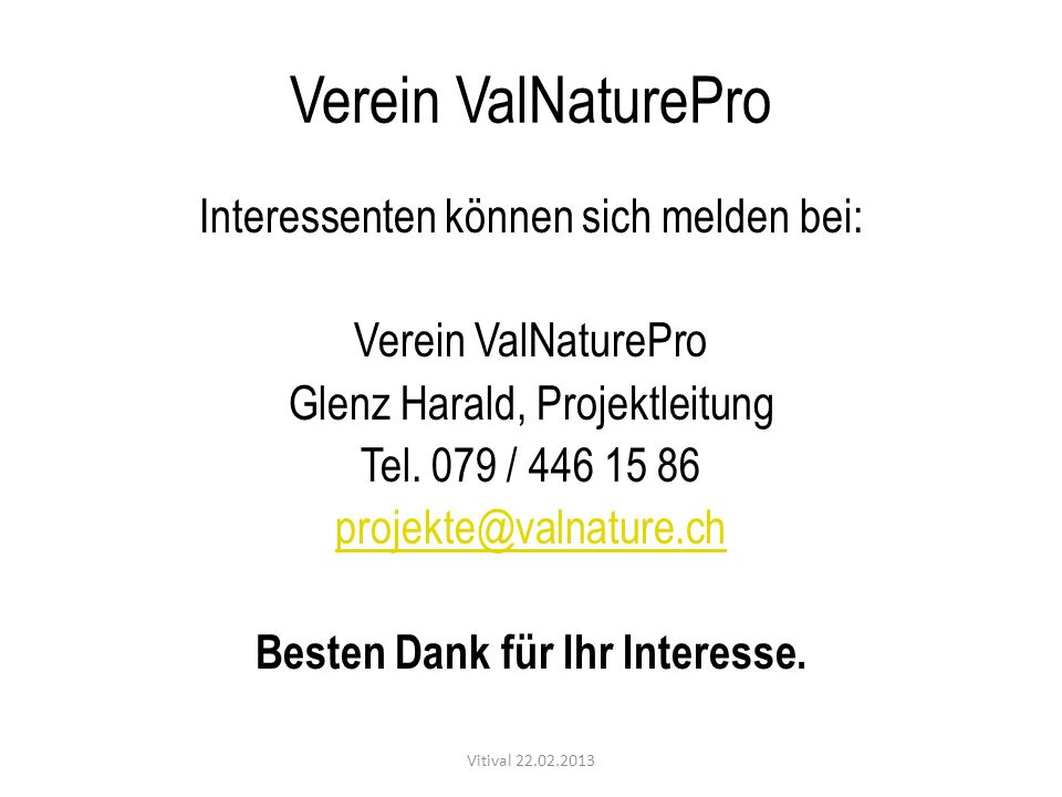 Verein ValNaturePro