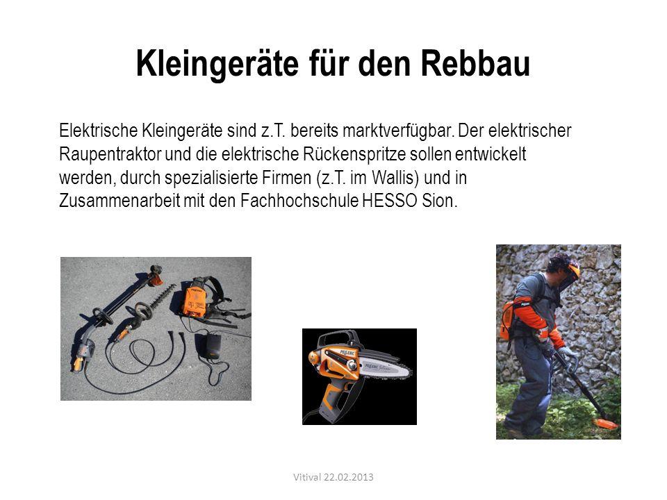 Kleingeräte für den Rebbau