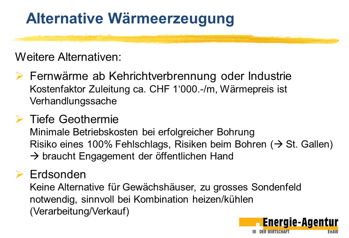 Alternative Wärmeerzeugung