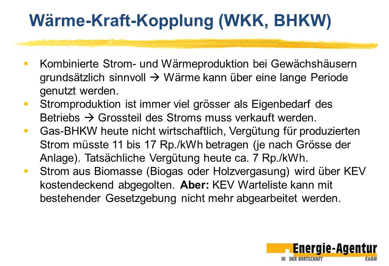 Wärme-Kraft-Kopplung (WKK, BHKW)