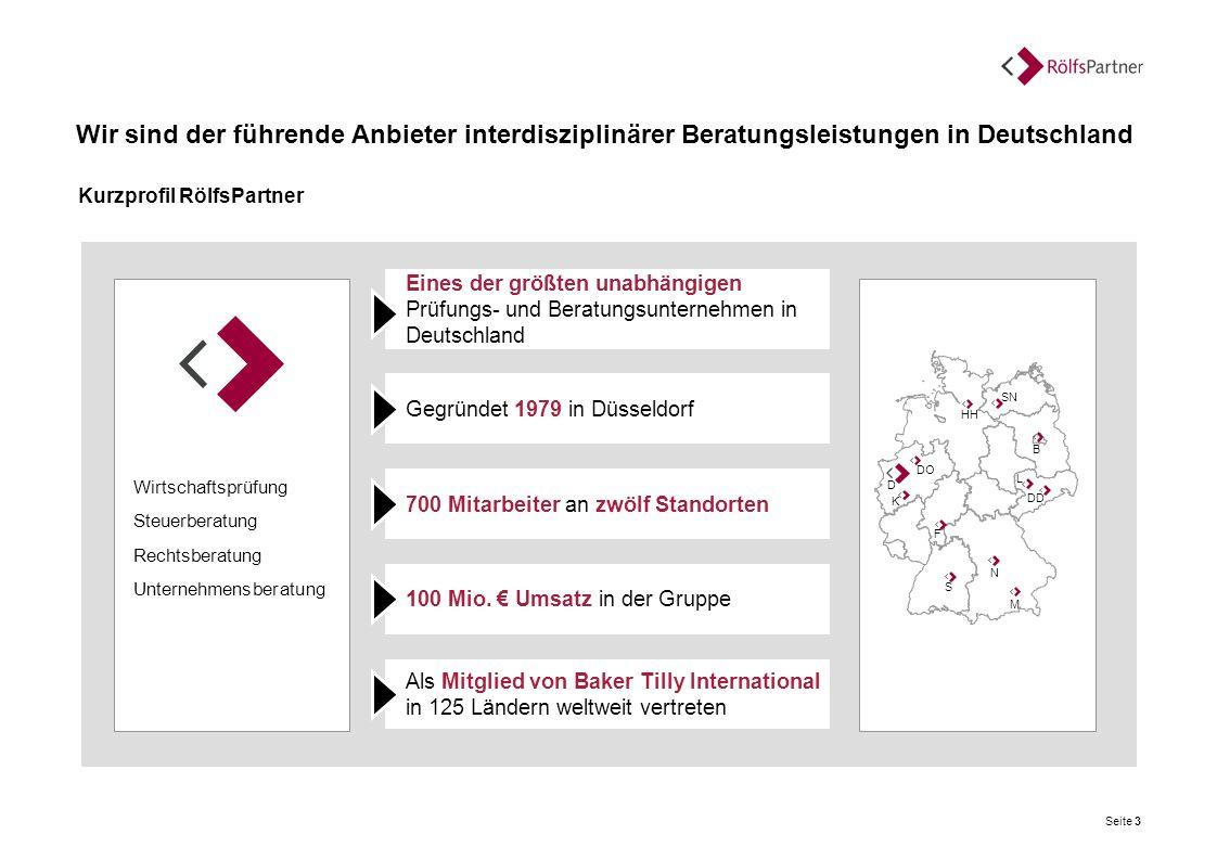 Wir sind der führende Anbieter interdisziplinärer Beratungsleistungen in Deutschland