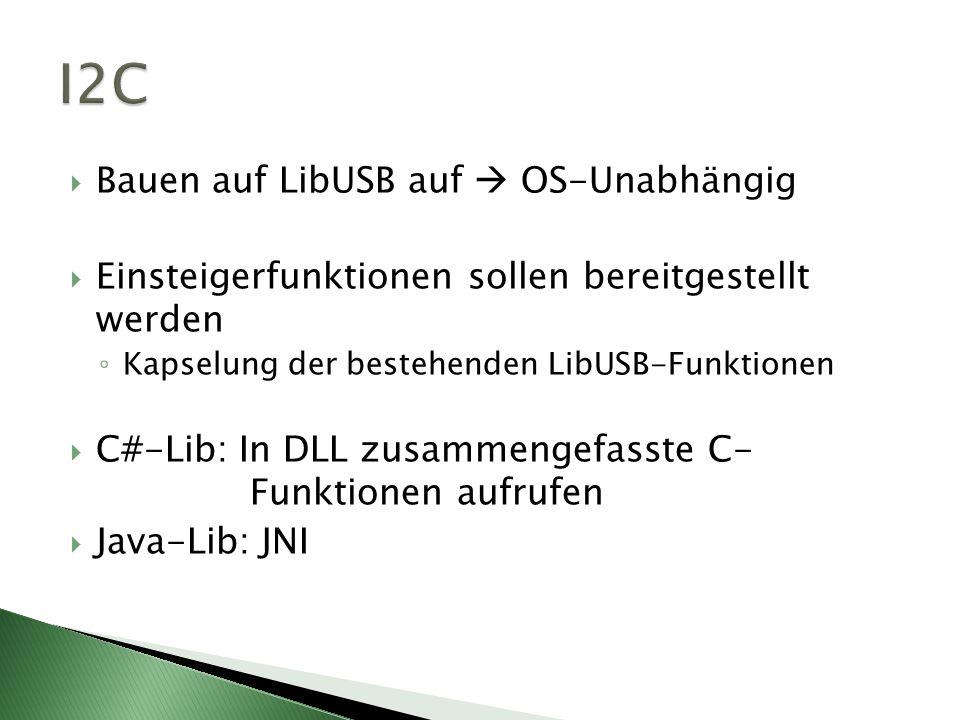 I2C Bauen auf LibUSB auf  OS-Unabhängig