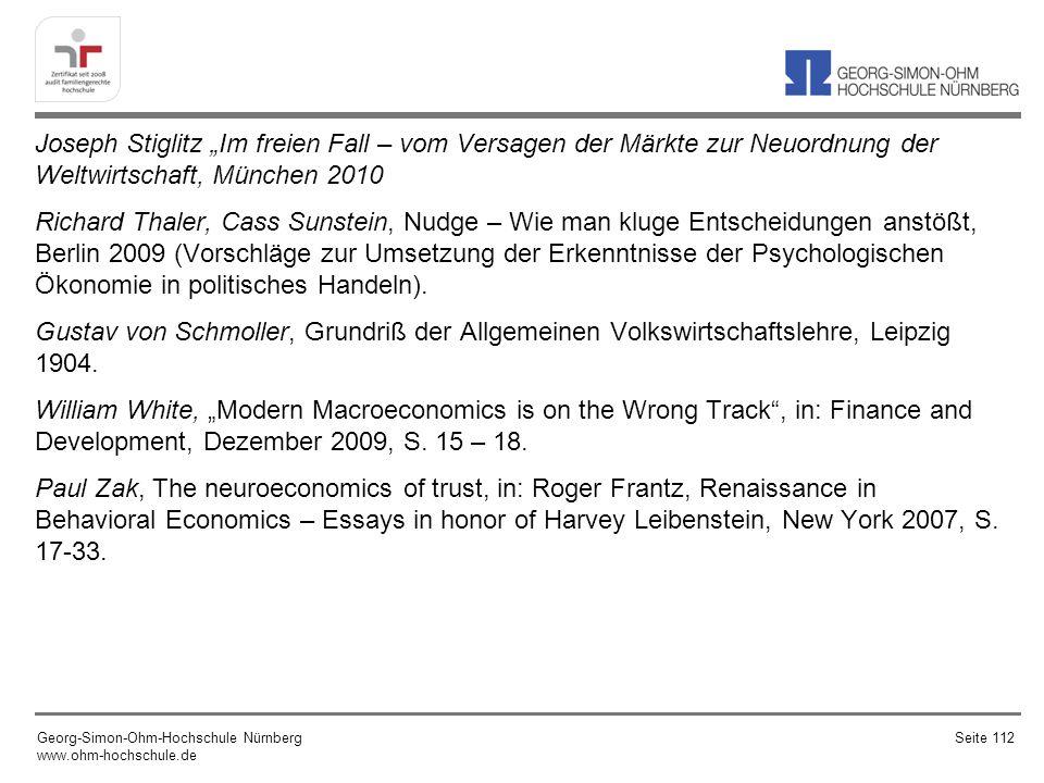 """Joseph Stiglitz """"Im freien Fall – vom Versagen der Märkte zur Neuordnung der Weltwirtschaft, München 2010"""
