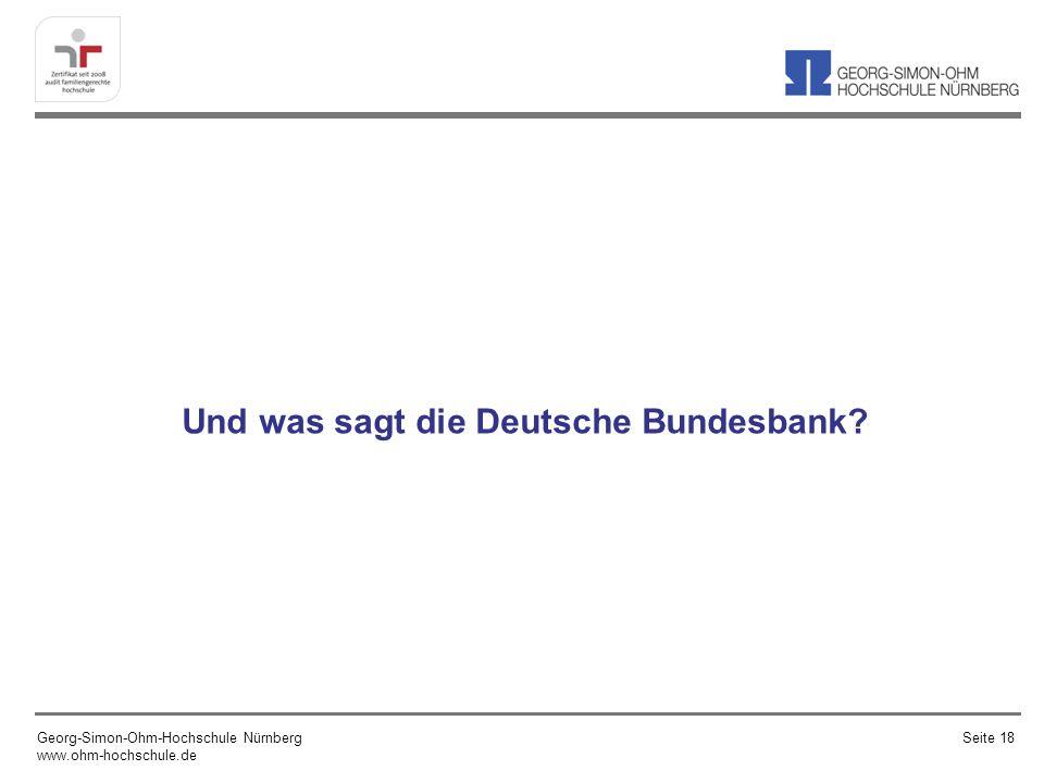 Und was sagt die Deutsche Bundesbank