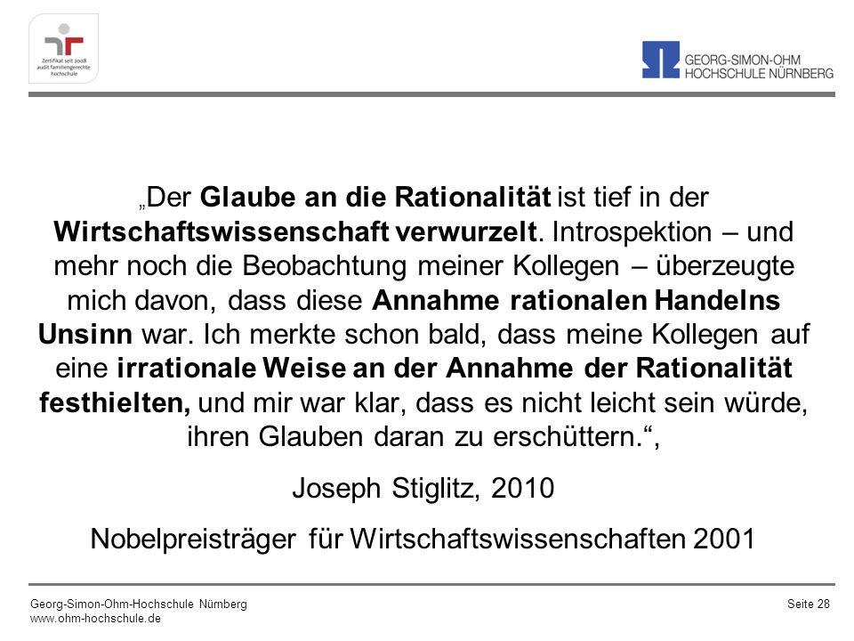 Nobelpreisträger für Wirtschaftswissenschaften 2001