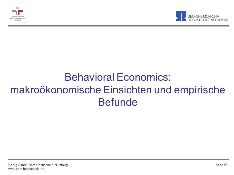 Behavioral Economics: makroökonomische Einsichten und empirische Befunde