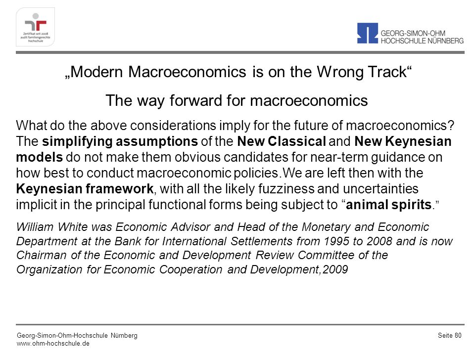 The way forward for macroeconomics