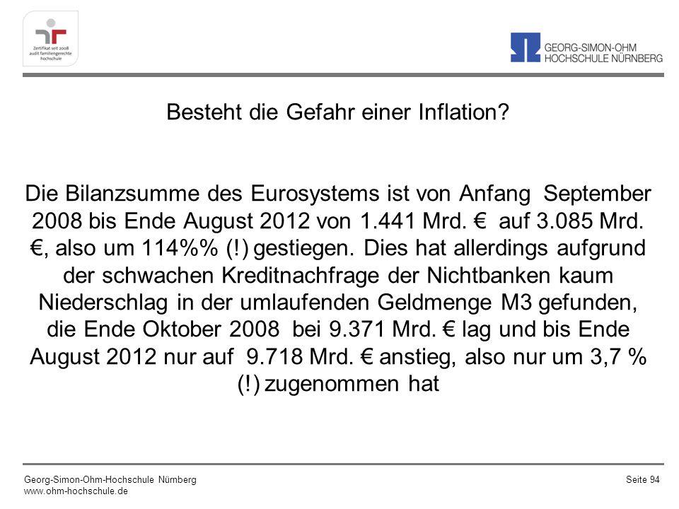 Besteht die Gefahr einer Inflation