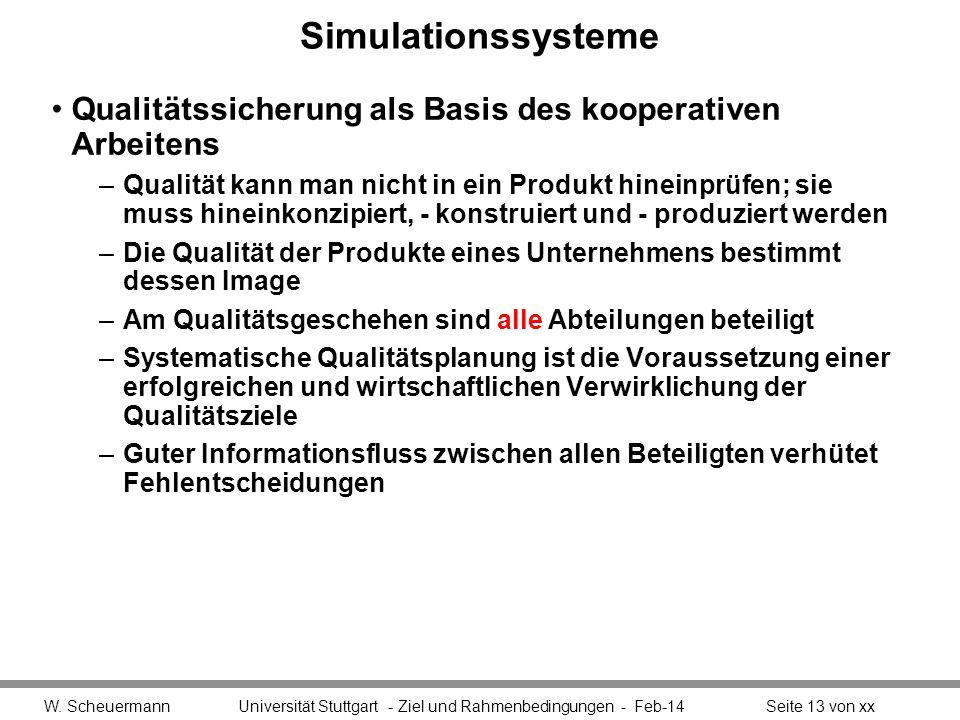 Simulationssysteme Qualitätssicherung als Basis des kooperativen Arbeitens.
